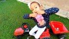 Bahçede traktörle kinder shopkins sürpriz aramaca, eğlenceli çocuk videosu