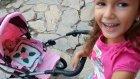 Bebek arabası ile bahçede geziyoruz, elsa, maşa ve elif , eğlenceli çocuk videosu
