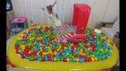 Disney cars havuzunu evde açtık içine 2000 top doldurduk, eğlenceli çcocuk videosu