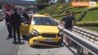 Düğüne Giden Gelin ve Damat Trafik Kazası Yapınca Karakolluk Oldu