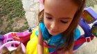 prenses jeep ile bahçe gezintisi , elif lera ve paticik geziyorlar, eğlenceli çocuk videosu