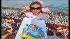 sonbaharda plaj keyfi oyunlar boyama, eğlenceli çocuk videosu