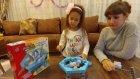 Buzları topla pengueni koru , oyuncak kutusu açtık, eğlenceli çocuk videosu toys unboxing