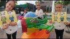 Elif ile park keyfi, zıplama, kum boyama ve kahvaltı , eğlenceli çocuk videosu