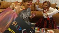 Elifin Saçını Boyadık , Yeni Saç Tebeşiri Kutusu Açtık, Eğlenceli Çocuk Videosu