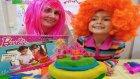 Oyun Hamurundan Barbie Pasta Kek Oyuncak Seti Açtık, Eğlenceli Çocuk Videosu