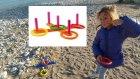 Plajda Halka oyunu açtık, çok eğlendik elif kazanabildi mi? eğlenceli çocuk videosu toys unboxing