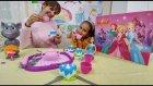 Prenses pasta kek ve çay seti oyuncak kutusu, balerin barbie misafir.Eğlenceli çocuk videosu