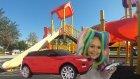 Uzaktan kumandalı jeep ile parkta yarışmalar oyunlar , eğlenceli çocuk videosu