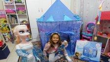 Yeni Elsa Çadır, Eğlenceli Çocuk Videosu , Toys Unboxing