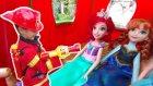 Anna elsa ariel barbie yi ziyarete geliyor, Barbie annesini dinlemeyip ateşle oynuyor