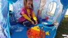 Elif Elsa ve Anna çadırda oyun oynuyor, eğlenceli çocuk videosu