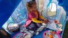 Elsa çadır bahçede,anna elsa  elif piknik yapıyor, eğlenceli çocuk videosu
