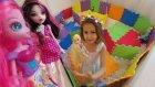 Evamatlarla Prenses Kalesi Yaptık, Elsa Anna Pamuk Prenses Rapunzel Pinki Pie Sindirella