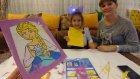 Karlar kraliçesi Elsa kum boyama yaptık, Lera ile yarıştık, kim kazandı, eğlenceli çocuk videosu