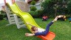 Dev kaydırağı bahçeye çıkardık, eğlenceli çocuk videosu