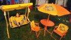 Elife yeni salıncak ve bahçe masası , eğlenceli çocuk videosu