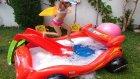 Köpük dolu Car havuza kaydırak getirdik tam aqua park oldu, eğlenceli çocuk videosu