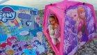 Plajda Elsa çadır ve my little pony dergi açtık, eğlenceli çocuk videosu