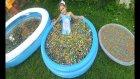 400.000 ORBEEZ HAVUZUNDA YÜZDÜK, eğlenceli çocuk videosu