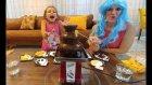 ÇİKOLATA ŞELALESİ İLE CHALLANGE YAPTIK, eğlenceli çocuk videosu