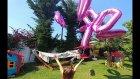 Elif Satranç oynuyor, 700 bin balonları saldık ve bahçe gezintisi, eğlenceli çocuk videosu