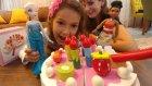 Elsanın doğum günü, misafir sadece moana gelmiş,AHŞAP PASTA SETİ , toys unboxing ,