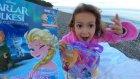 Plajda havludan hamak yaptık , Elsa çanta ve Karlar ülkesi elsa dergi açtık