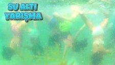 Denizde Su Altı Yarışmalar Yaptık Nefes Tutma Kaydırak Ve Yüzme