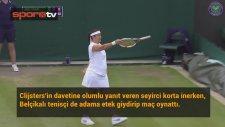 Kim Clijsters, Seyirciye Etek Giydirip Tenis Oynattı