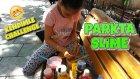 Parkın Ortasında Kendimle Slime Challenge Yaparsam Kim Kazanır ?