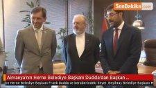 Almanya'nın Herne Belediye Başkanı Dudda'dan Başkan Hazinedar'a Ziyaret