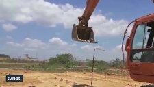 İş Makinesiyle Basket Atmak