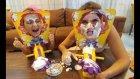 Pie face duellosu yaptık Elif mi Lera mı? eğlenceli çocuk videosu