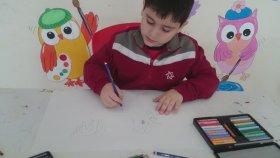 Yetenekli Öğrenci Ahmet Göktürk Sarıkaya Görsel Sanatlar Resim Dersinde Yeteneğini Sergiliyor