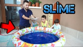 Bir Havuz Dolusu Dev Slime Nasıl Yapılır Eğlenceli Çocuk Videosu
