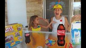 ISLAK KAFA CHALLANGE WET HEAD, eğlenceli çocuk videosu, toys unboxing