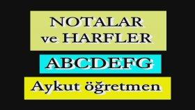 Notaların Harf Karşılıkları Akorlar Harfler ile Gösterilir Harfleri Ezberlemelisin Aykut öğretmen