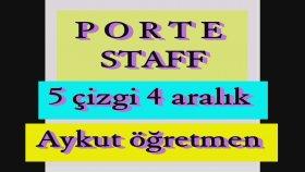 Porte Dizek Staff 5 Çizgi 4 Aralıktan Oluşan Notaların Yazıldığı Müzik Tablosu Aykut öğretmen