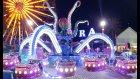 Antalya Aktur Lunapark akşam keyfi , elif atraksiyonlu tehlikeli oyuncaklara yalnız bindi