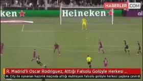 R. Madrid'li Oscar Rodriguez, Attığı Falsolu Golüyle Herkesi Şaşkına Çevirdi