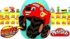 Blaze ve Yol Canavarları Sürpriz Yumurta Oyun Hamuru - Kamyon Oyuncakları