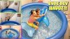 Evin Ortasına Dev Sıcak Su Havuzu Kurduk !! ( Yüksekten Atladık )