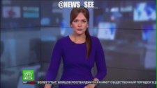 Muhabire Canlı Yayında Yumruklu Saldırı (Rusya)