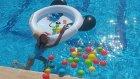Panda Mini Havuza Zürafa ve Yunus Atmaca Yarışması