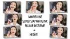 MAYBELLINE SUPER STAR MATTE INK RUJLAR İNCELEME + HEDİYE + Hakan Günday - Az