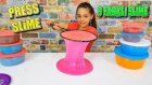 Çeşit Çeşit Slime Kullandık Slime Press Yaptık !! ( Slıme Pressıng )