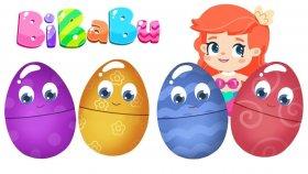 BiBaBu #ÇizgiFilm izle. Sürpriz yumurta - eğlenceli ve eğitici oyun ?