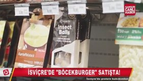 İsviçre'de Böcekburgerler Raflarda