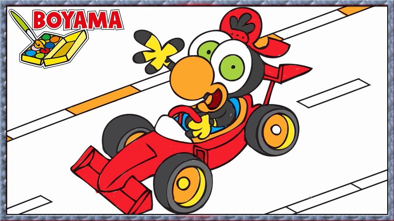 Limon Ile Zeytin Yarış Arabası Karikatür Nasıl Boyanır Boyama